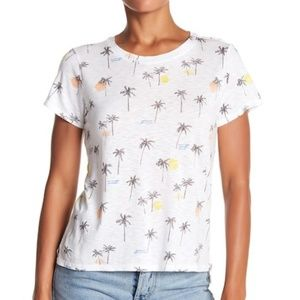 Lucky Brand Allover Palm Tree Tee T-Shirt Top